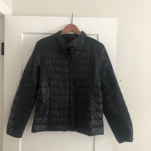 Packable down puffer jacket L